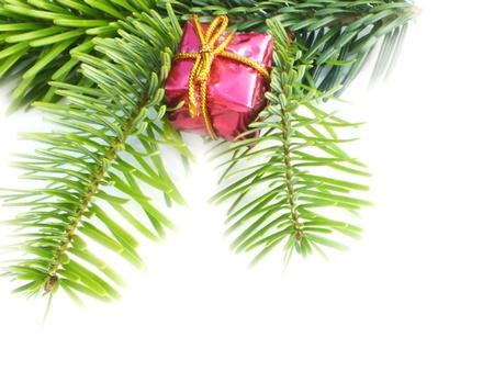 christmas decoration on white background to photo