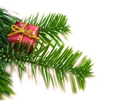 christmas decoration on white background to Stock Photo - 14640652