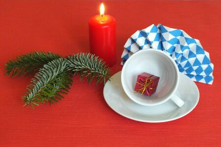 Bavarian food table christmas decorations photo