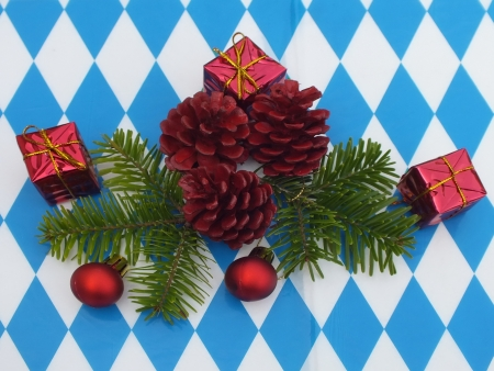 congratulations cards spice: Bavarian food table christmas decorations