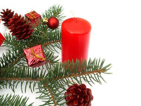 christmas scent: decoraciones de Navidad Foto de archivo