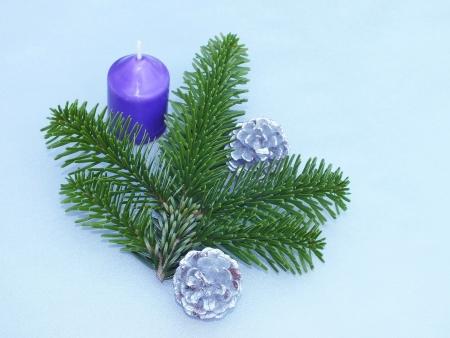 christmas scent: decoraci�n de navidad en azul Foto de archivo