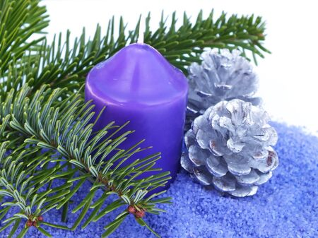 christmas decoration in blue photo