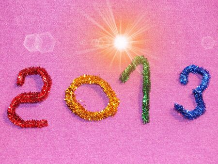 colorful than paying for congratulation new year Stock Photo - 16420330
