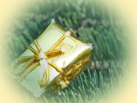 Christmas decoration on abstract background photo