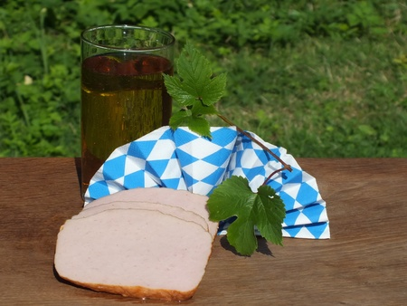 leberkaese: leberkaese,a type of meat loaf popular in Germany and Austria