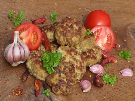 fresh fried meatball photo