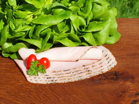 longaniza: sausages on the kitchen table Stock Photo