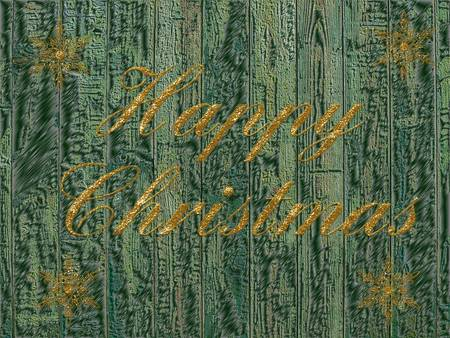 bright festive background with writing as a Christmas card photo