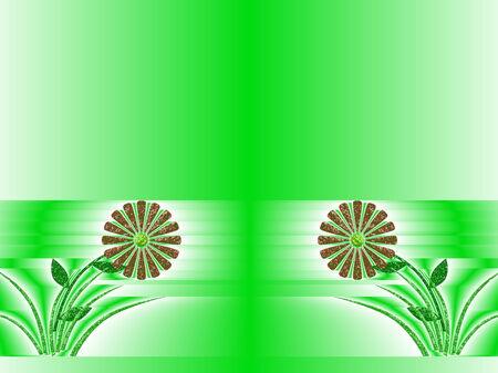 discreto: fondo monocromo con la peque�a flor de color discreto