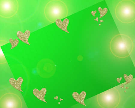 colored background with small pattern and small heart