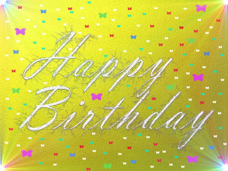 Written Letterstextcolor Happy Birthday Card Stock Photo Picture