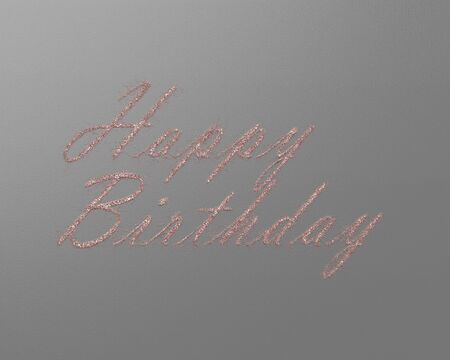 written letters,text,color happy birthday card Stock Photo
