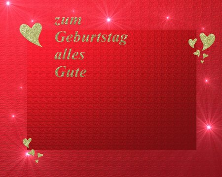 Written In German Letters Happy Birthday Card Stock Photo Picture