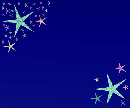 colored background with small pattern and small star photo