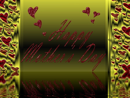 in  letters, happy mothers day, colorful background photo