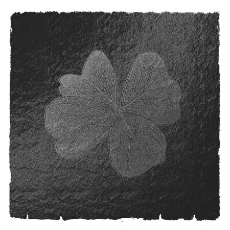 small stones: painted with small stones artistic green shamrock Stock Photo