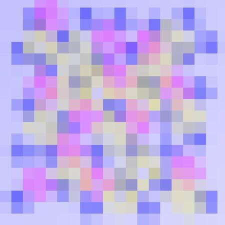 many small checks, pixel colored modern pattern Stock Photo