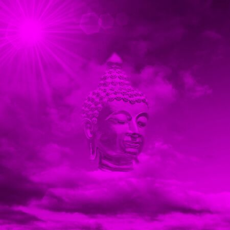 processed: the Head of Buddha abstract digitally processed in