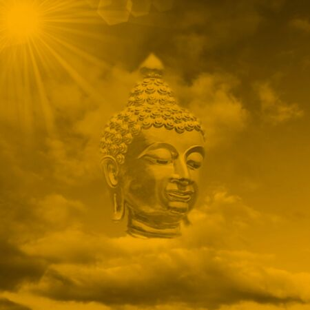 buddha head: the Head of Buddha abstract digitally processed in