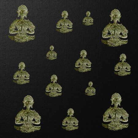 festive pattern: many small Buddha to a festive pattern