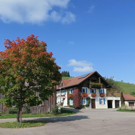 typical german farmhouse in bavaria