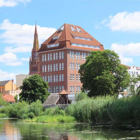 architecture, mecklenburg-vorpommern, hanseatic city, demmin, July 2020 Editorial