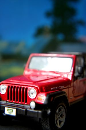 red toy jeep Stock Photo - 681226