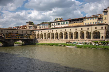 ponte: The Ponte Vecchio Old Bridge in Florence, Italy
