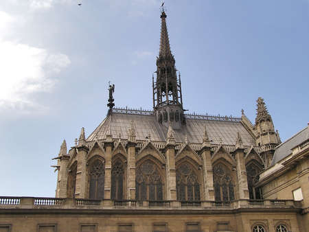 build in: Ste Chapelle church in Paris - build in 13th century by King Saint Louis (Louis IX)