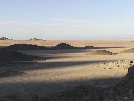 Sand dunes and luminous landscape of Sahara, Egypt, Africa