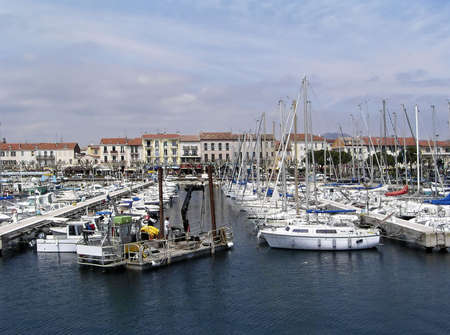 toulon: Boats tugging on a port of  French Riviera, France