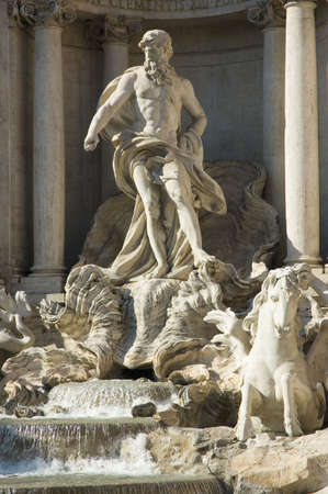 Details of Fountain di Trevi, Rome, Italy Stock Photo