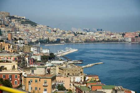 Vista aérea de la bahía de Nápoles  Foto de archivo - 414475