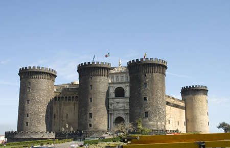 Castle Nuovo, middle age fortress and its arc of triumph, Naples