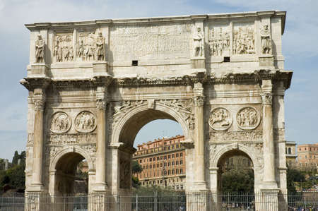 sacra: Arch of Constantine , built in IIIrd century, Rome, Italy Stock Photo