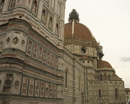 distinctive: Famous distinctive dome of the Santa Maria del Fiore cathedral or Duomo of Florence Stock Photo