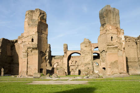Thermae of Caracalla or Baths of Caracalla, ancient roman public baths and leisure centre,  Rome, Italy Stock Photo - 500490