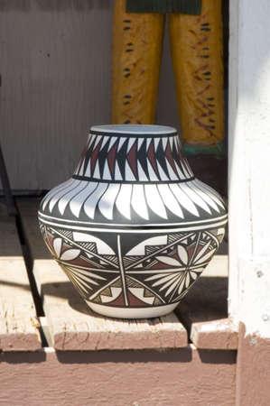 Traditional Native-American Pottery in Arizona, USA Stock Photo