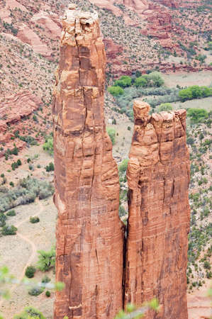 dwelling: Spider Rock at Canyon de Chelly, Arizona.