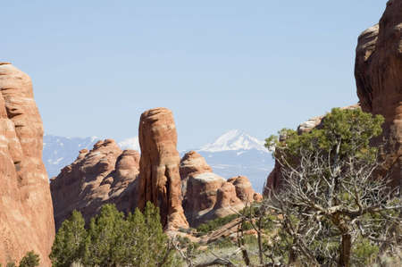 Close view of Park Avenue  buttes in Arches National Park, Utah, USA Banco de Imagens - 568404