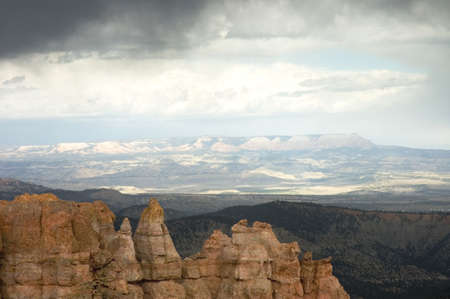 Clouds and panoramic view over Bryce Canyon, Utah, USA photo