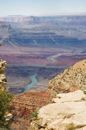 Scenic view of Grand Canyon  and Colorado River,  in Arizona, USA photo