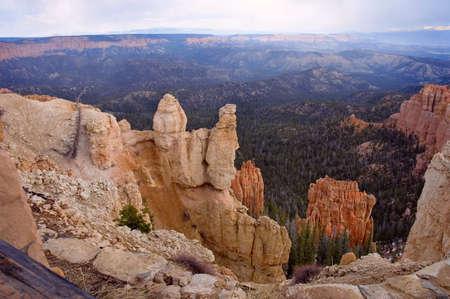 The vertiginous deepness of Bryce Canyon  Utah, USA photo