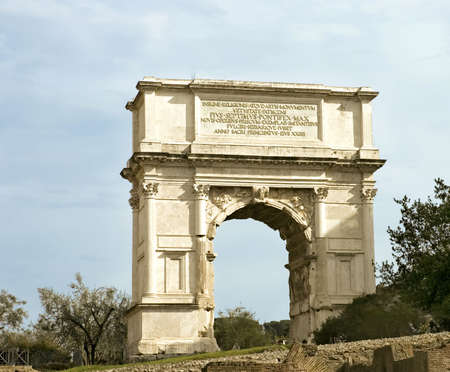 erected: Arch erected in honour of Titus and in commemoration of the siege of Jerusalem, Rome, Italy