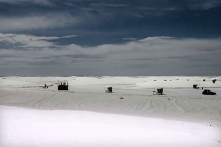 Midnight  in the White Sands National  Park, New Mexico, USA photo