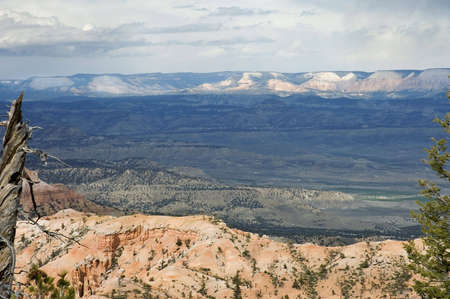 The fiery colors and endless vistas at Bryce Point in  Bryce Canyon National Park, Utah, USA photo