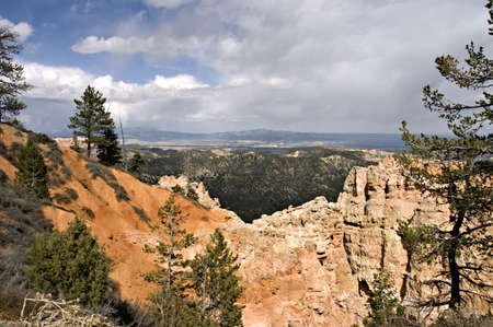 Clouds over  Bryce Canyon National Park, Utah, USA photo