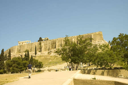 fortification: Fortification wall of the Acropolis in Athens, Greece