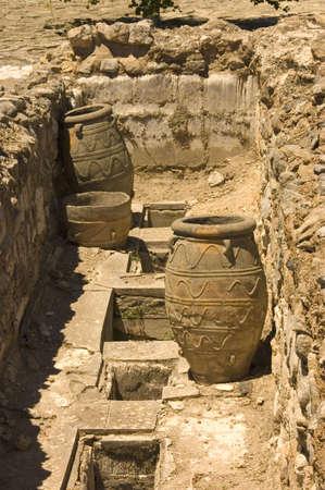 Jars and storage pits at Knossos, Crete Island, Greece